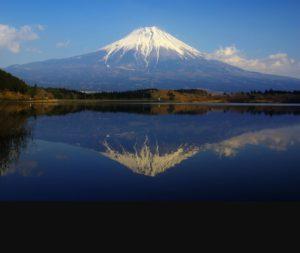 心の鏡に映った富士山